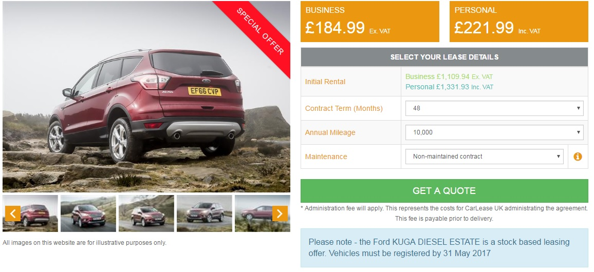 ford-kuga-lease-deal